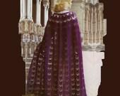 Vintage Crochet Pattern 320 PDF Purple Cape from WonkyZebra