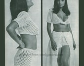 Vintage Crochet Pattern 016 HotPant Bikini PDF from WonkyZebra