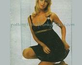 Vintage Crochet Pattern 220 PDF Bikini Dress Trousers from WonkyZebra