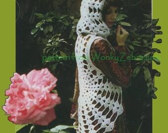 Vintage Crochet Pattern 260 PDF Cobweb Hoodie from WonkyZebra