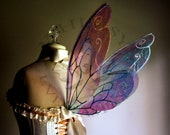 Illusionist Fairy Wings Wedding Halloween Costume Faerie Reenactment Fantasy Renaissance Cellophane Custom