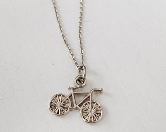 Delicate Silver or 14k Gold-fill bicycle necklace, / Handmade in otilyas
