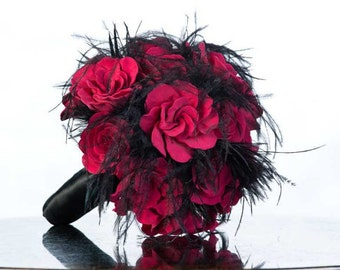 Alternative Bouquet - Gothic Bouquet - Clay Bouquet - Custom Clay Bouquet - Custom Wedding Bouquet - Floral Bouquet - Deposit