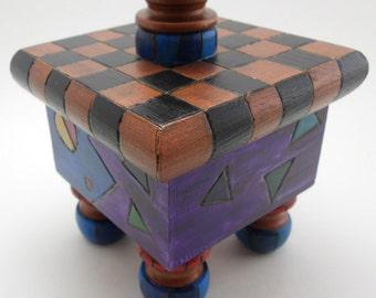 Copper Checkered Box