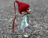 Made to Order - Pick Your Color - Realpuki Size Elf Style Hat with Golden Jingle Bells