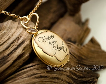 child loss locket friend family sympathy memorial Forever in my Heart