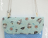 Convertible Clutch/Sling Bag/ Shoulder Bag - Pirates