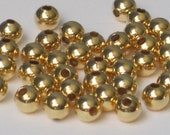 5mm Gold Plated Round Bead  (Qty 100)  50-GP104