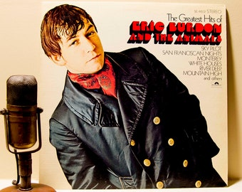 "ON SALE Eric Burden(The Animals), Vintage Vinyl 1960s English Rock Blues Pop LP Album, ""The Greatest Hits of""(Original 1969 Polydor)"