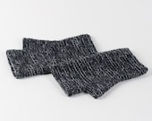 Fingerless mittens in anthracite graphite dark gray