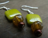 Czech Glass, Chinese Crystal & Glass Pearl Earrings