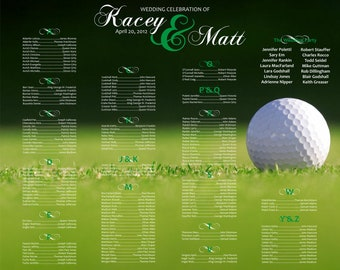 Golf Wedding Seating Chart