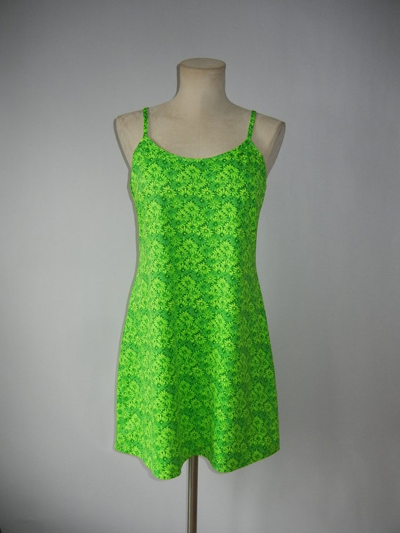 Lime Green Club Dresses Vintage 90'...
