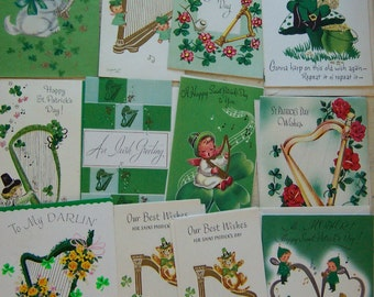 lot of st patrick day cards