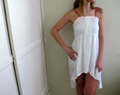 Hi Low Dress High Lo White Summer See Through Sundress Womens