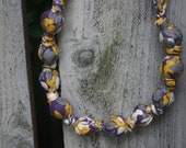 Gray, Purple, Mustard & Cream-Mommy and Baby Teething/Nursing Necklace