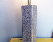 S A L E, Cubistic Gray Speckle Lamp - was 68 now 32