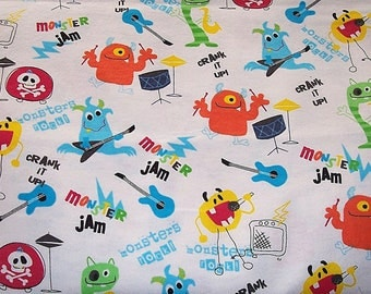 Monster Jam Flannel Fabric 22 inches long-for diapers, pj's
