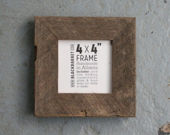 Natural Reclaimed Oak Picture Frame (4x4)