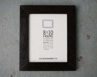 Exotic African Wenge Wood Natural Finish Picture Frame (8x10)