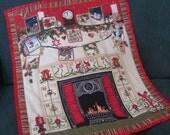 Advent Calendar Art Deco Fireplace,  Christmas Countdown, Christmas Decorations, Baby Shower gift, Christmas gift, Holiday Decor