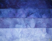 Gemstone Tanzanite - hand dyed rug hooking wool fabric -  (1) Fat Quarter (4) values available