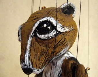Chipmunk marionette, made-to-order
