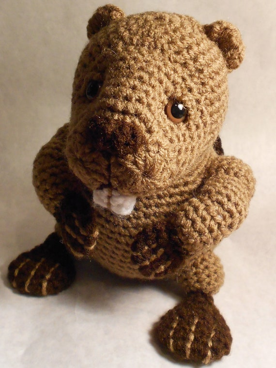 Beaver Amigurumi Crochet Pattern by jessboyercrochet on Etsy
