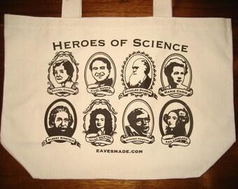 Heroes of Science Tote Bag