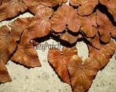 Vintage Brass Leaves b02
