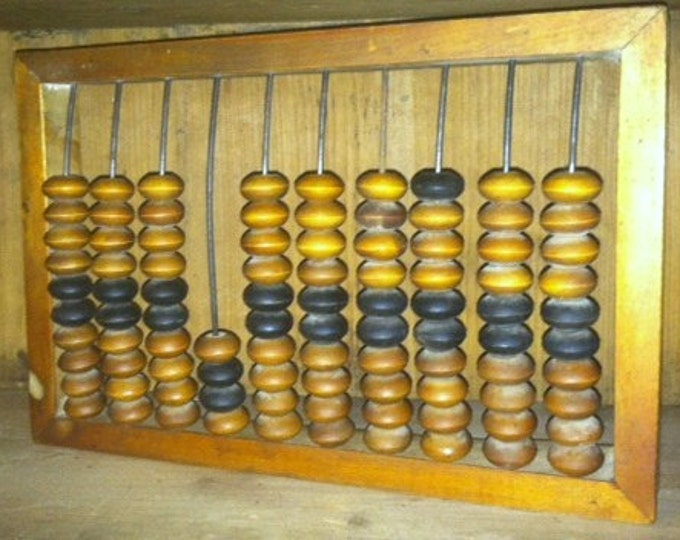 Antique Abacus with Wooden Beads