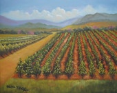 Wine Country original oil painting by artist Kathy McCartney