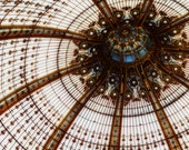 Paris Photography - Art Deco Dome Photo ,10x8 Signed French Architecture Picture, Galleries Lafayette, Modern Travel Image, Decor Wall Art