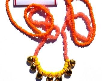 Neon Pastel Bells Necklace