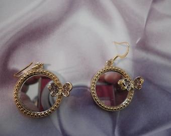 Mirror Mirror with Butterfly Earrings