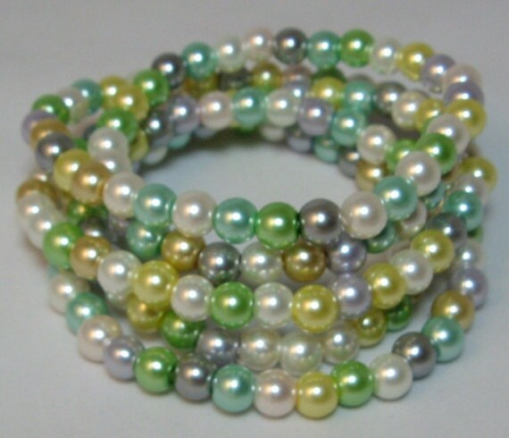 """Glass Pearls Pastel Multi Color Beads 1 - 32"""" Strand"""