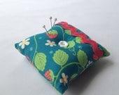 Summer Strawberry Square Pin Cushion, Pincushion, FREE Shipping