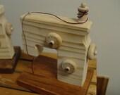 Threading Sewing Machine - Knobs Turn - Waldorf play - Imaginative Play