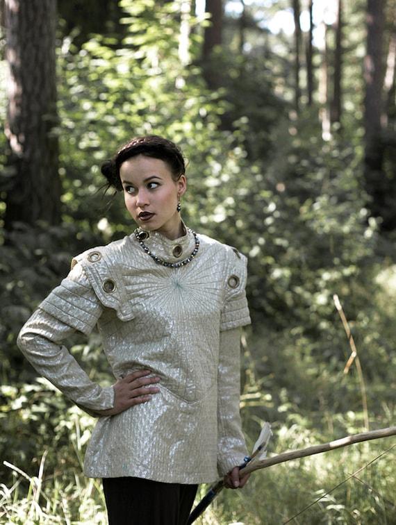 Golden Warrior Futuristic renaissance costume blouse