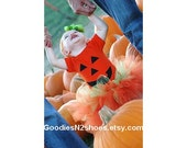 Pumpkin face shirt size 4T screen printed READY TO SHIP