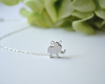 Little Elephant Necklace, sterling silver