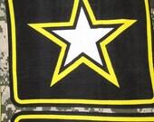 Army Logo with Green Fleece Blanket