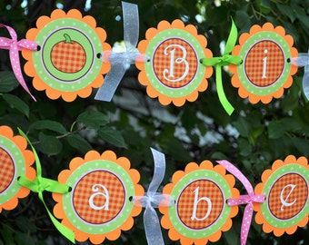 Pumpkin Birthday Banner - Pumpkin Birthday Decorations - Halloween, Autumn Birthday Party Decorations