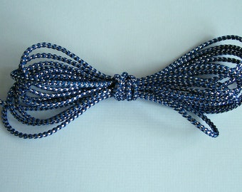 Navy Blue and Silver Cord