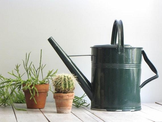 vintage metal slovakia watering can