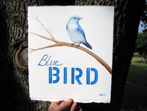 Bluebird - Original Watercolor Painting