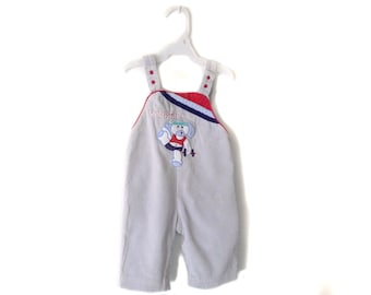 Vintage 80s baby corduroy overall Work-out dog