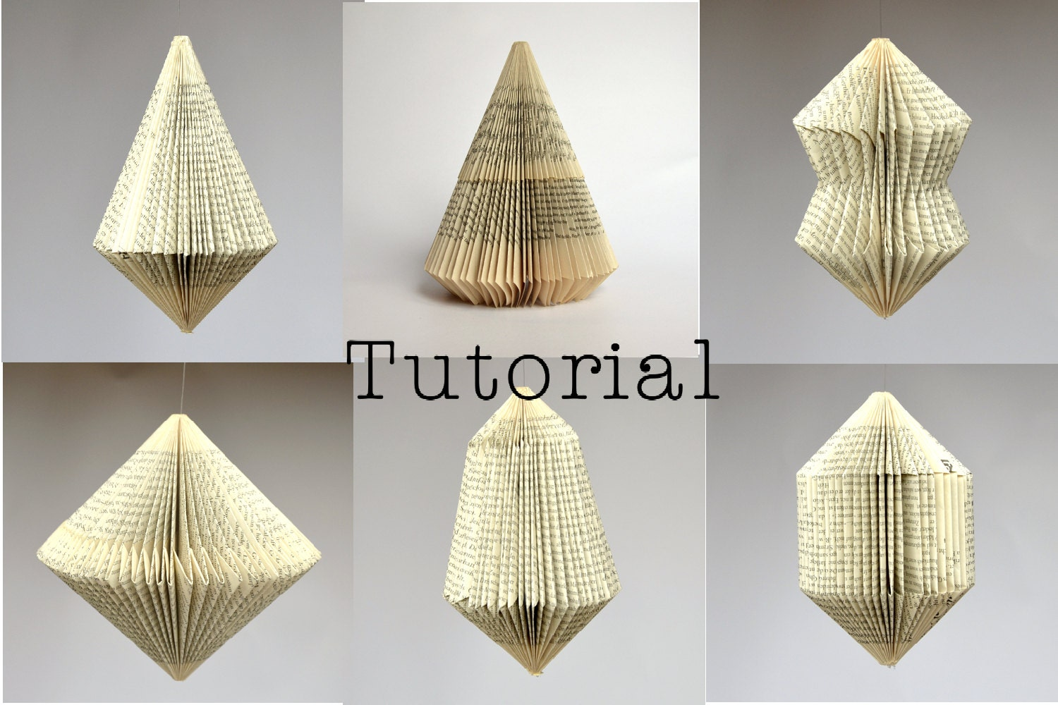 Folded Book Art Patterns For 6 Different Book By