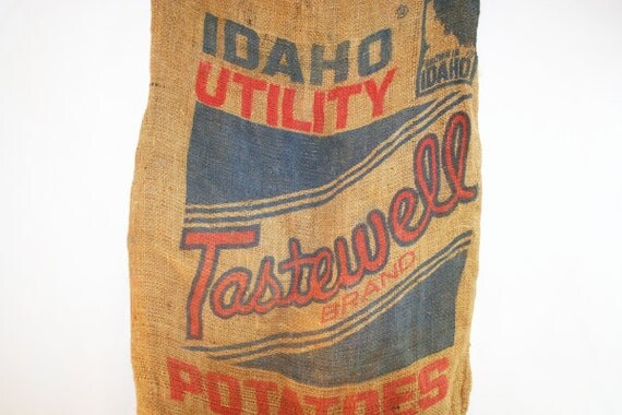 Potato Sack Burlap Bag Idaho Potato