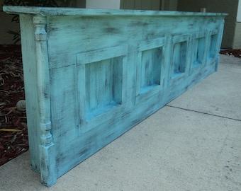 King Size Headboard, Wall Mount, Primitive Fireplace Mantle Shelf, You Choose Color